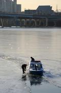얼어붙은 한강