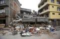 [네팔강진]수도 카트만두에 붕괴된 건물