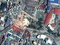 [사진]지진으로 붕괴된 네팔 다라하라탑의 위성사진