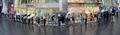 애플워치 구매자 우산행렬