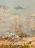 지진대피 훈련, 군 헬기의 항공방재
