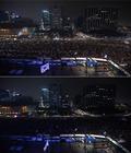 '박근혜 퇴진' 촛불 소등 퍼포먼스