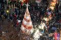 성탄절, 명동거리의 인파