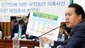 '미르·K스포츠재단 납부액' 질의하는 이용주 의원