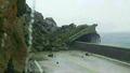 폭우에 무너진 울릉도 가두봉 피암터널