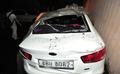 지진 여파로 부서진 차량