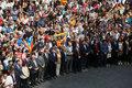 [사진] 지지자들과 자축하는 카탈루냐 수반