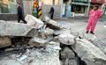 처참한 지진 피해 현장