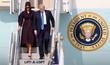 오산공군기지 도착한 트럼프 미국 대통령 내외