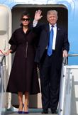 트럼프 대통령-멜라니아 여사 '한국 반갑습니다'
