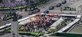 트럼프 방한, '경찰 차벽 등장'