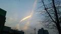 하늘에 나타난 '세월호 리본' 구름