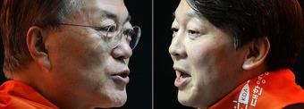 문재인 '다자' 안철수 '양자'…리턴매치에 '구도싸움' 치열