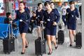 평양 순안공항의 고려항공 여승무원들