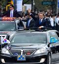 청와대 향하는 문재인 대통령