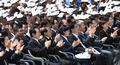 문재인 대통령의 5.18 기념사에 박수