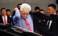 전주 도착한 북한 장웅 IOC위원