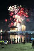 영일대 해수욕장 밤하늘 수놓는 화려한 불꽃