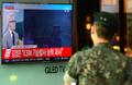 北미사일 도발 뉴스 보는 군장병
