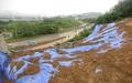 강우로 인해 토사 유실된 신갈분기점