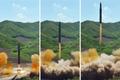 北 ICBM 화성 14호 발사 순간