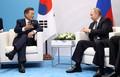 회담 하는 한국-러시아 정상