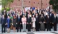 문재인 대통령 내외, G20 정상회의 문화공연 기념촬영