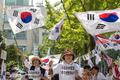 이재용 부회장 석방 촉구하는 보수단체 회원들
