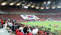월드컵경기장에 펼쳐진 태극기