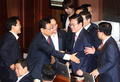 기뻐하는 자유한국당