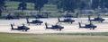 북한 수소탄 실험 단행, 계류되어 있는 미군 헬기들
