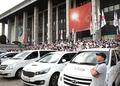 파업에 나선 KBS 노조원들