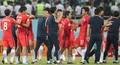 기뻐하는 태극전사들 '월드컵 본선 진출'