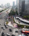 자유한국당, 전국에서 강남으로 집결
