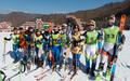남북스키선수들 '우리는 하나'