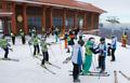 마식령스키장 정상에 선 남북 스키 선수들