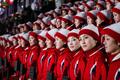 북한 응원단 '개막식이 궁금해'