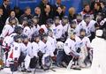 여자 하키 단일팀 격려하는 남북 지도자