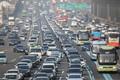 귀성차량들로 붐비는 고속도로
