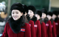 北 응원단의 '미소'