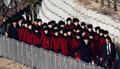 북한응원단,'오와 열을 맞춰'