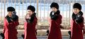 북한 응원단 '미소로 응원합니다'