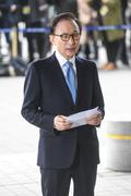 검찰 출석한 이명박 전 대통령