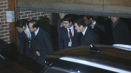 구치소 향하는 이명박 전 대통령...전직 대통령으로 4번째 구속