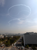 블랙이글스가 서울상공에 그린 태극기