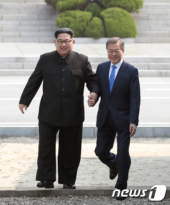 문재인-김정은 '함께'