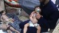 [사진] 산소 마스크 쓴 어린이…시리아 화학무기 사용했나