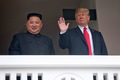 북·미정상 '평화로운 미래로'