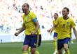 환호하는 스웨덴