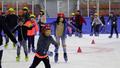 빙상 위 피서 즐기는 아이들